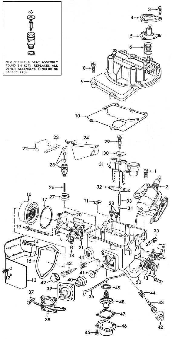 Carburateur  Motorcraft 2100  2150