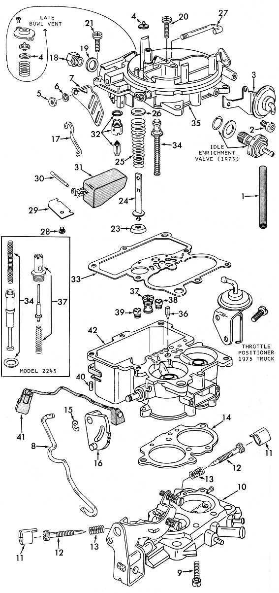 holley 2210  2245 exploded view