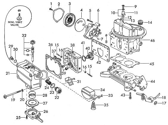 Holley 600 Parts Diagram