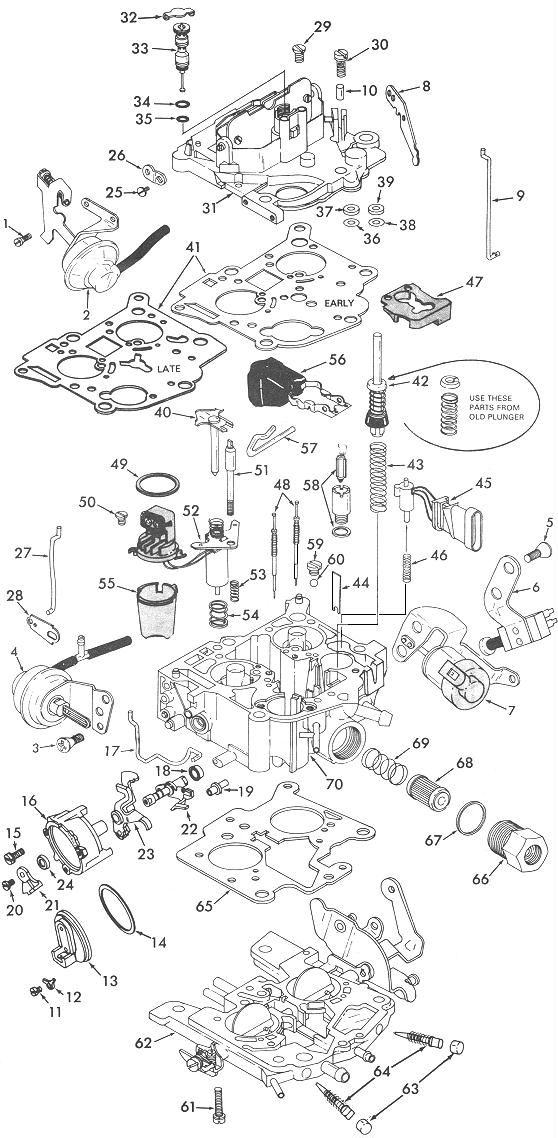 rochester 210 exploded view